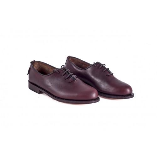 Zapato Mod: 15/01, para polaina cereza con cordones suela piel