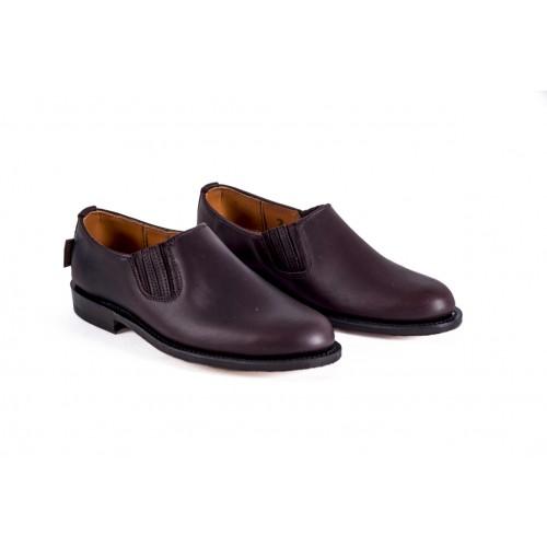 Zapato Mod: 15/03, para polaina castaña con elástico suela piel