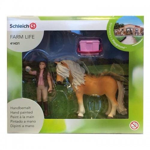 Cuidadora de caballos con pony Irlandes Schleich