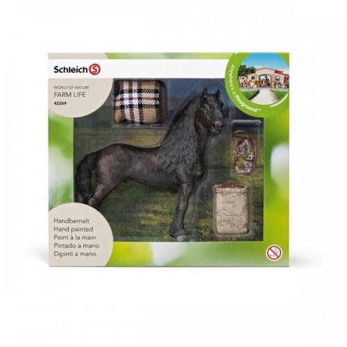 Set caballo con manta y pienso Schleich