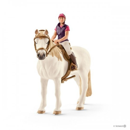Amazona aficionada con caballo
