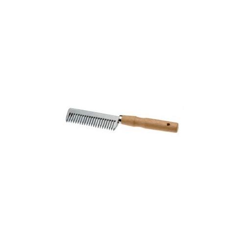 Peine aluminio con mango de madera