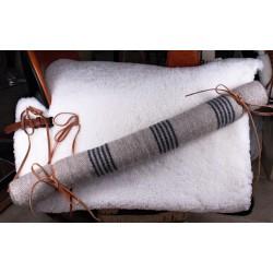 Manta lana rodillo para silla de amazona