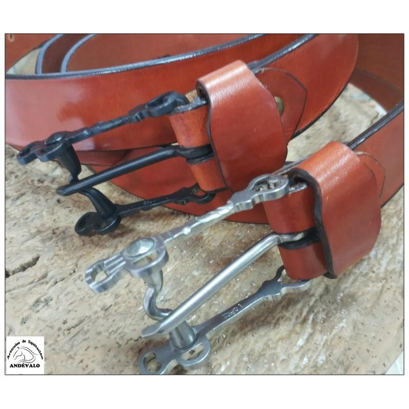 Cinturon artesanal hebilla bocado vaquero Inoxidable.