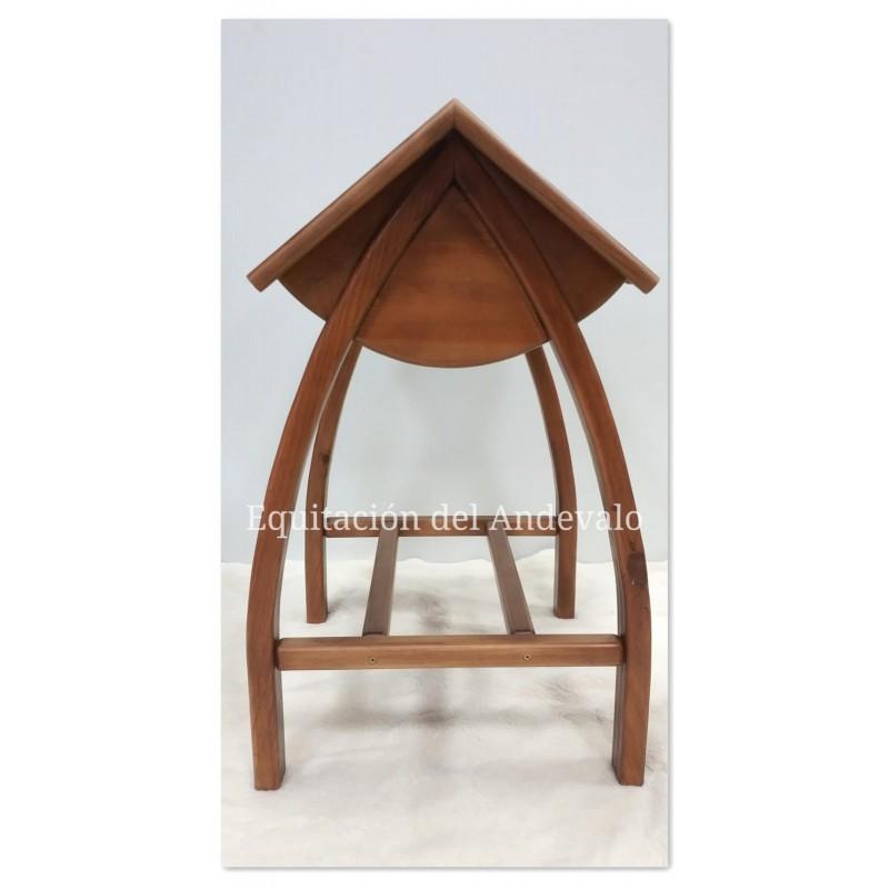 Monturero ovalado de madera para montura vaquera